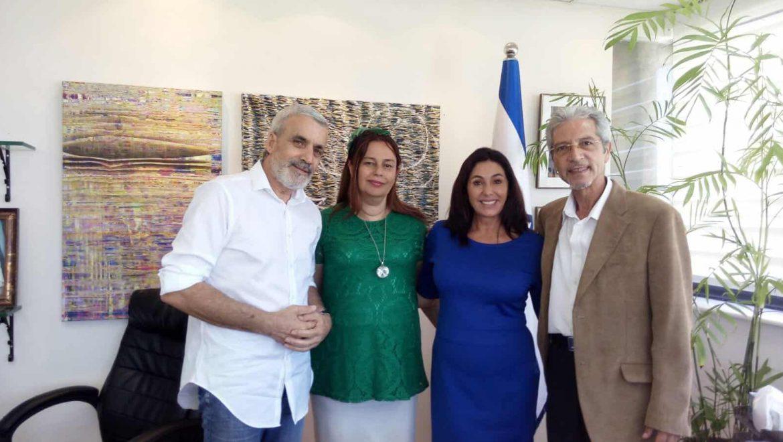 שלום אדרי בפגישות עם שרי התרבות הספורט והרווחה מירי רגב וחיים כץ
