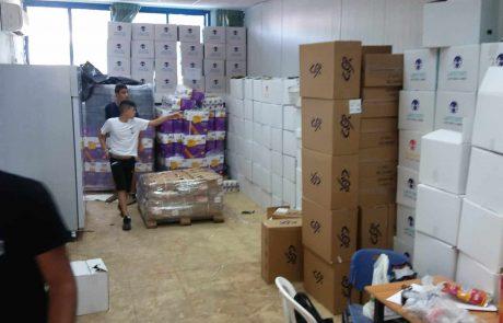 חלוקת סלי מזון בחסות ארגון החסד 'ובנה'