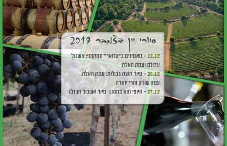 סיור יקבים פסטיבל היין ונאמן למקום – שבוע שני
