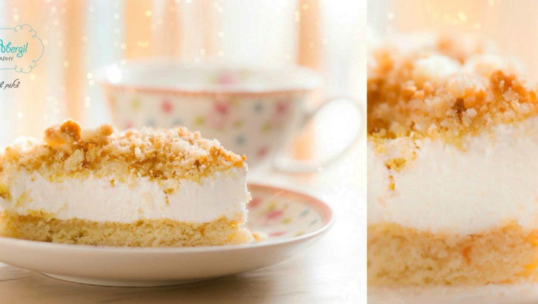עוגת שמנת ופירורים