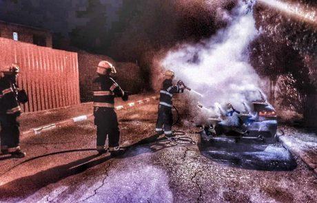 תאונת דרכים ושריפת רכבים ביממה לא שקטה ללוחמי אש