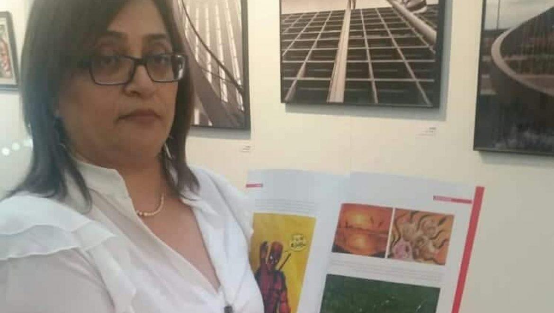 הציירת רונית אברהם משתתפת בתערוכת ציורים ארצית