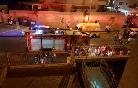 שריפה ברח' חבקוק הנביא