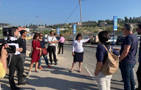 """מפגש וסיור עיתונאים עם רה""""ע עליזה בלוך"""