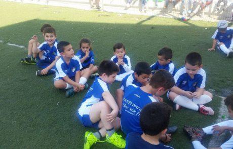 משחק ידידות הורים וילדים באקדמיה לכדורגל